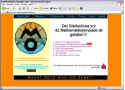 Beschreibung von www.matheolympiade-thueringen.de