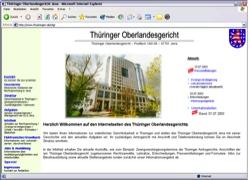 Website in neuem Fenster �ffnen - Th�ringer Oberlandesgericht bietet komfortable Suche nach Immobilien