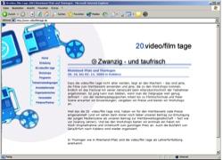 Beschreibung von www.videofilmtage.de