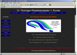 Beschreibung von www.thueringerphysikolympiade.de
