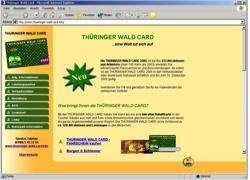 Beschreibung von www.thueringer-wald-card.info