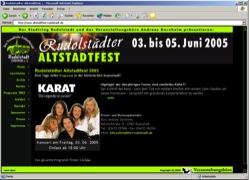 Beschreibung von www.altstadtfest-rudolstadt.de