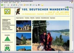 Beschreibung von www.deutscher-wandertag2005.de