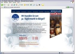 Beschreibung von www.buergeler-toepfermarkt.de
