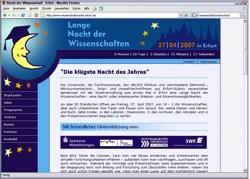 Beschreibung von www.wissenschaftsnacht.erfurt.de