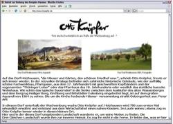 Website in neuem Fenster öffnen - Hoffest erinnert an den Landschaftsmaler Otto Knöpfer aus  Holzhausen