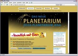 Website in neuem Fenster öffnen - Seit achtzig Jahren wird das Zeiss-Planetarium Jena immer jünger