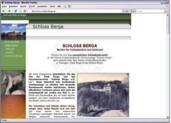 Beschreibung von www.schloss-berga.de
