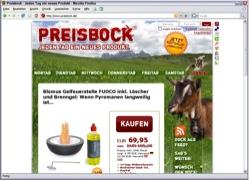 Website in neuem Fenster öffnen - Schaufenster überrascht täglich mit einem Produkt eines  anderen Händlers