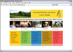 Beschreibung von www.stelzenfestspiele.de