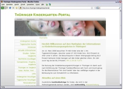 Beschreibung von www.thueringer-kindergartenportal.de