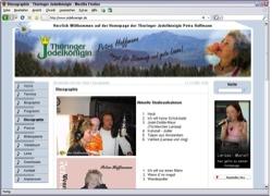 Website in neuem Fenster öffnen - Petra Hoffmann aus Langewiesen unterhält mit Volksmusik  und Country
