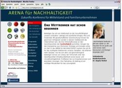 Beschreibung von www.nachhaltigkeitsarena.de