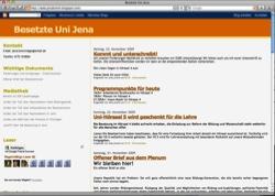 Website in neuem Fenster öffnen - Thüringer Studentenprotest nutzt alle Kanäle des Internets