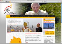 Website in neuem Fenster öffnen - Kirche stellt Besuchsprogramm vor und sammelt Papst-Fans