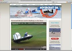 Website in neuem Fenster öffnen - Luftkissenboot-Piloten kämpfen an der Bleilochtalsperre um EM-Titel