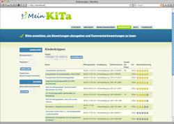 Beschreibung von www.meinkita.de