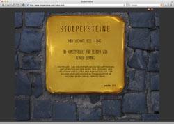 Website in neuem Fenster öffnen - Berliner Künstler reist seit 1997 gegen das Holocaust-Vergessen durch das Land