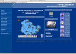 Website in neuem Fenster öffnen - Private Wetterstation protokolliert Temperatur, Regen und Wind