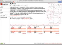 Website in neuem Fenster öffnen - Private Website ermittelt Zugstandorte und protokolliert Verspätungen