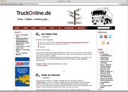 Website in neuem Fenster öffnen - Trucker aus Mühlhausen bloggt seit rund 15 Jahren direkt aus seinem Führerhaus