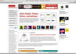 Website in neuem Fenster öffnen - Überblick über tausende regionale und internationale Radiosender