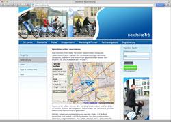 Website in neuem Fenster öffnen - Mietfahrräder mit dem Handy bequem finden und im 30-Minuten-Takt nutzen