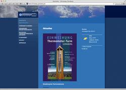 Website in neuem Fenster öffnen - Wetter-Wissen und Riesenthermometer locken auf Rundweg