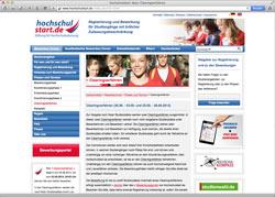 Beschreibung von www.hochschulstart.de