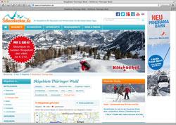 Website in neuem Fenster öffnen - Portal kennt offene Skilifte, Pistenqualität, Preise und Unterkünfte