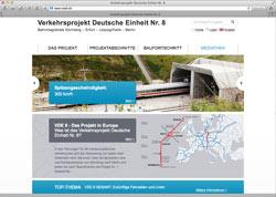 Website in neuem Fenster öffnen - Bauarbeiten an ICE-Hochgeschwindigkeitsstrecke in Text und Bild dokumentiert