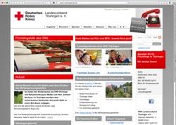 Website in neuem Fenster öffnen - Deutsches Rotes Kreuz informiert Hilfsbedürftige und Helfer