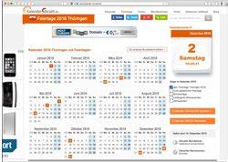 Website in neuem Fenster öffnen - Ferienübersicht, Urlaubsplaner, Mondphasen und Zitatekalender